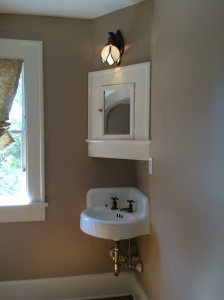 Upstairs Corner Sink